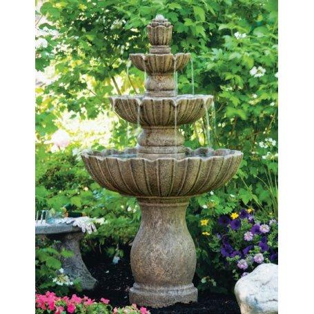 """Suihkulähde """"Three Tier Mirabella Scallop Fountain"""""""