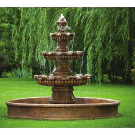 Three Tier Renault Fountain On 8' Pool