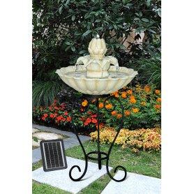 Kukanmuotoinen suihkulähde, solar