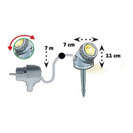 LED-spot 401 HIGH POWER, veden alle tai päälle