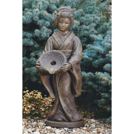 Oriental figuuri patsas, Oriental Girl With Dish-Plumbd