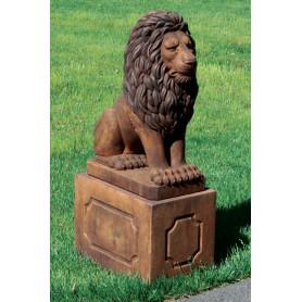 Jalusta Eläinpatsas Leijonalle,  Pedestal Grandessa Sitting Lion