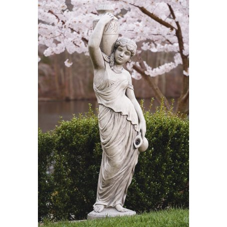 Patsas figuuri, Nainen kannun kanssa, Large Grecian Lady - Plumbed