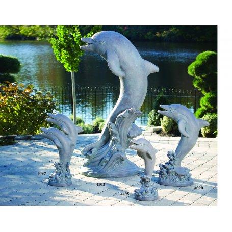 Eläinpatsas Delffiini, Dolphin, 4 kokoa