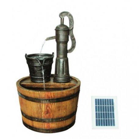 Suihkulähde Solar Barrel with Pump, tynnyri