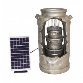 Suihkulähde Solar Milk Churn, aurinkoenergia