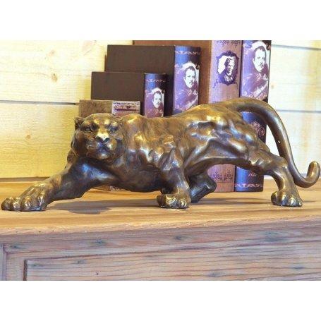 """Pronssinen Pantteri patsas """"Jaguar"""""""