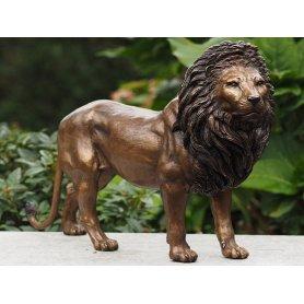 """Pronssinen Leijona patsas """"LEO"""""""