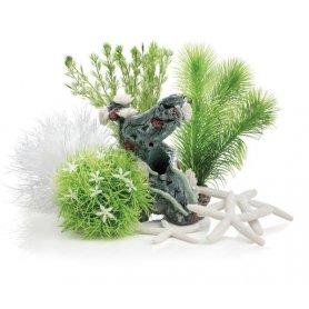 Flower Garden -koristepaketti 15L sisustusakvaarioon