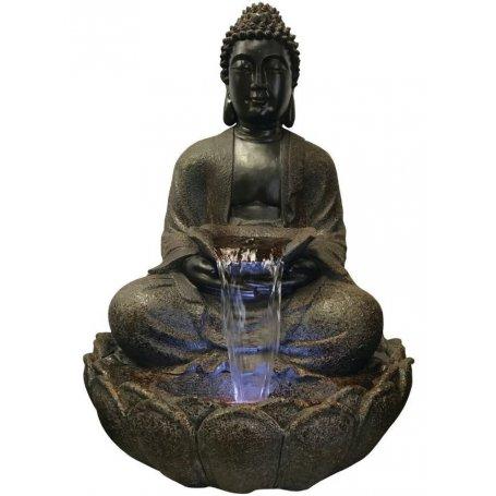 Ruskea Sitting Buddha vesiaihe, 86 cm