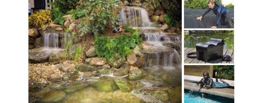 Puutarhan altaan rakentaminen. Tarjoamme allaskumin lisäksi allasmuovit, allaskoristeet, allasvalaistuksen, puutarha-altaat ja suodattimet.