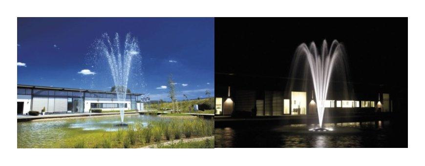 Kelluvat erikoispumput ja vesisuihkut vaativaankin käyttöön. Kelluva suihkulähde, jossa on integroitu vesipumppu, tekee asennuksesta helppoa mihin vaan.