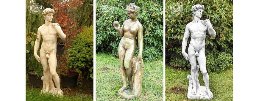 Patsas hahmo patsaat, perinteiset figuurit sopii hyvin puutarhaan. Meiltä edullisesti kotiin tuotuna.